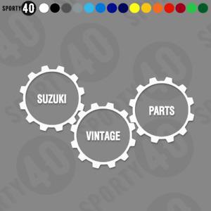 SUZUKI VINTAGE PARTS - Vinyl Decals / Sticker - 2108-0719
