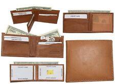 Lot of 4 Man's Bifold 2-in-1 Leather Wallet, 9 Card Slot 3 ID 3 Billfolds wallet