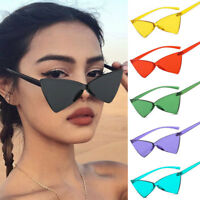 Fashion Triangle Cat Eye Rimless Frame Sunglasses One Bow-Shaped Dance Glasses