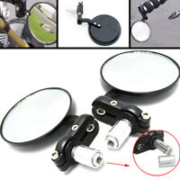 """7/8"""" MOTORCYCLE HANDLE BAR END SIDE MIRRORS FOR BOBBER CLUBMAN CAFE RACER 3"""""""