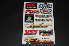 Sticker RK Chain Showa YSS Mio Fino FCCI Automatic Sponsor Decal Aufkleber B10