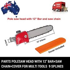 9 T POLESAW POLE SAW HEAD REPLACEMENT W/BAR CHAINSAW COVER BRUSHCUTTER CHAIN SAW
