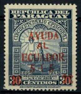 Paraguay 1949 SG#685 Ecuadorean Earthquake Aid Unused No Gum #E32963