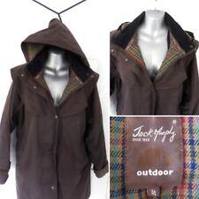 ❤ JACK MURPHY Ladies Size 14 Brown Removable Hood Long Coat Zip Up Jacket