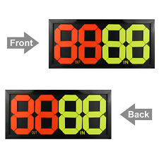 4-Digits Double Side Football & Soccer Athlete Substitution Board Display Out/In