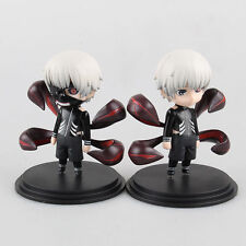 2Pcs Mini Anime Tokyo Ghoul Kaneki Ken Action Figure Awakened Ver Toy Doll Model