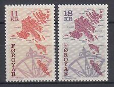Färöer 1997 ** Mi.320/21 Freimarken Definitives, Landkarten Maps