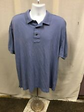 Men's Cutter & Buck Blue Polo Shirt Sz 1X Big- Guc