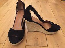 Next Designer Black Women Ladies High Heel Shoe Sandal Wedge 5 38
