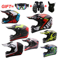 DOT Motorcycle Helmet Motor Helmet Capacete Motocross Off Road Helmet+3pc Gift