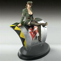 1/35 Scale Pin-Up Pilot Figure Model Unpainted Female Soldier Garage Kits  ^ ∑