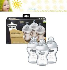 Tommee Tippee Closer To Nature Triple Pack 260ml 0m+ Baby Bottle Feeding Set