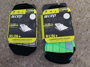 CEP Run+  Compression Socks - Neon Green and Black, Men's, Size 4 New in box