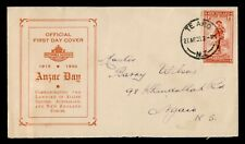 DR WHO 1936 NEW ZEALAND ANZAC DAY FDC C176624