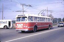 Puc Port Arthur Public Utilities Cc&F Trolleybus Kodachrome original Kodak Slide