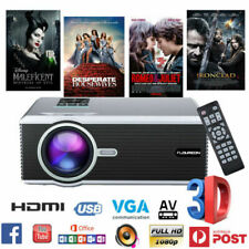 5000 Lumens 3D LED Projector 1080P Full HD Multimedia Home Cinema Theater HDMI