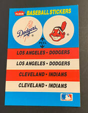 1989 Fleer Baseball Sticker Dodgers Indians Chief Wahoo Astros Astrodome LOGO