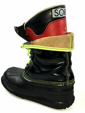 Sorel Snowboard Boot - Men's Black / Red Insulated Size 6 Usa.