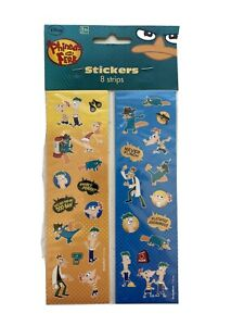 Phineas & Ferb Disney Cartoon TV Kids Birthday Party Favor Stickers 8 Strips
