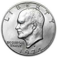1974 S Eisenhower Ike Silver Dollar Brilliant Uncirculated