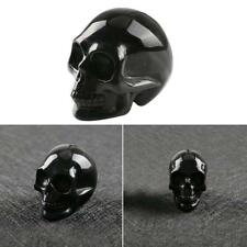 Natural Hand Carved Skull Natural Crystal Healing Gemstone Carving Specimen New-