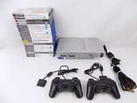 Ps2 Playstation 2 Bundle Grey Fat Console + 2x Controllers + 20x Popular Games