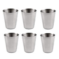 6~12 Pcs1oz/30ml Metal Stainless Steel Cup Mug Drink Coffee Beer Tumbler Travel