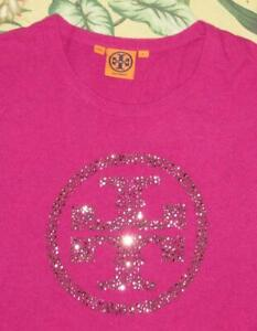 TORY BURCH Pink Cashmere Merino Wool Angora Blend Crewneck Sweater Large L