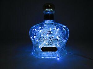"110V Electric Blue Lighted ""Crown Royal XO"" Liqour Bottle Light US Seller"