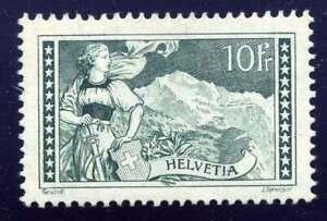 Schweiz Nr. 228 ungebraucht/*, 10 Fr. Gebirgslandschaften (53644)