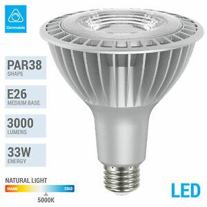 33PAR38 850 33W Watt LED High 3000 Lumen Medium E26 FL Flood 5000K Natural White