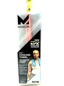 Mission HydroActive MAX Cooling Towel New Grey N Orange Open Box