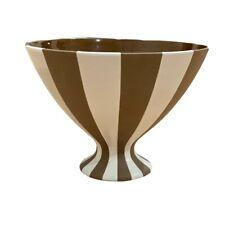 Gorgeous Handmade Jonathan Adler Brown & White Striped Bowl