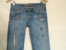 Miss Me Boot Jeans Sz 26 Cancun JP4232 Studded Embellished Ripped Distressed