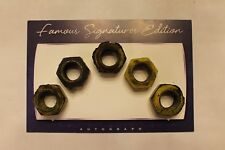 LOT of 5 NASCAR Race Used Lug Nuts DALE EARNHARDT JR. Martinsville 04/2006 & COA