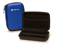 Blue Portable Hard Drive Case Bag Holder Water Shock Resistant - Lifetime Warran