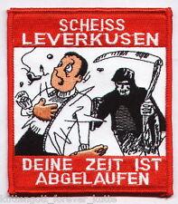 """Anti Leverkusen Aufnäher """"DEINE ZEIT.."""" Kutte Weste Fan Patch Block + neu +"""
