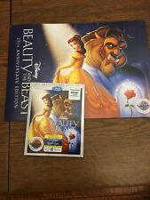US Disney Beauty & the Beast 25th Anniv Bluray/DVD/Digital + 4 Lithographs NEW!