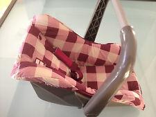 Puppen Sitz Autositz Puppentrage lila Babytrage Babyschale Autositz
