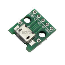 10pcs Female Micro USB Type B SMD to DIP 5Pin Adapter Pinboard 2.54mm