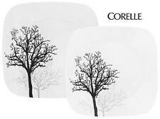 Corelle Square TIMBER SHADOWS Choose: DINNER or LUNCH PLATE *Black Grey Branches