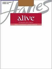 Hanes Alive Pantyhose All Sheer Regular 3-Pack Size A-F Non-Control Top Silky...