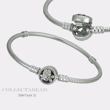"Authentic Pandora Sterling Silver Enamel Poetic Blooms 7.1"" Bracelet 590744CZ-18"