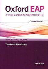 Oxford EAP INTERMEDIATE B1+ Teacher Book w DVD & Audio CD Academic English @NEW@