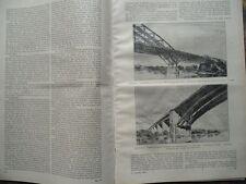 1919 Eisenbahn Eisenbahnbrücke Stockholm Arstabucht