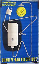 GUY GEORGET CHAUFFE-EAU ELECTRIQUE TARIF DE NUIT TARIF REDUIT circa 1955-60