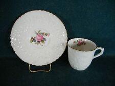 Spode Spodes Bridal Rose Savoy Billingsley Rose Gold Demitasse Cup & Saucer Set