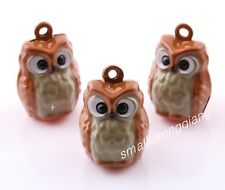 10 pcs Lucky OWL Jingle Bells Beads Charms Pet Pendants Christmas Ornaments