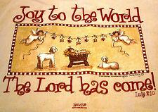 CHRISTMAS JOY TO THE WORLD Medium SWEATSHIRT TOTE BAG Kerusso Christian Apparel