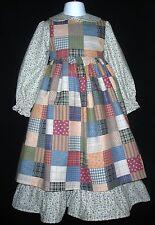 Holly Hobbie Prairie Girl 2 pc Dress & Pinafore Choose Colors Custom Made sz 2-8